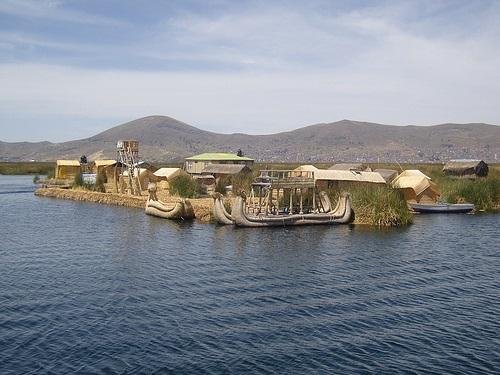 Las islas de Uros, Lake Titicaca, Peru