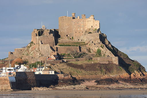 Mont Orgueil Castle in Jersey, Channel Islands.