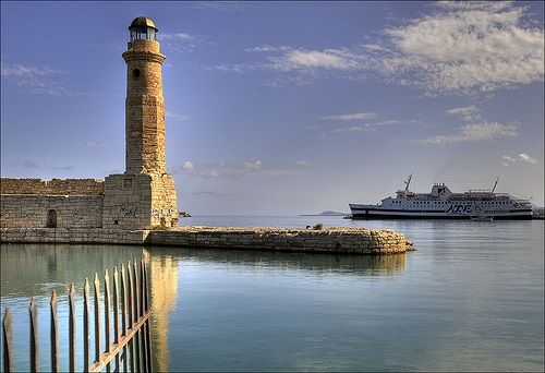 Boat and lighthouse Rethymno, Crete